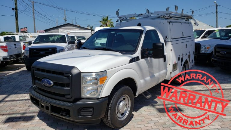 2013 FORD F350 XL, KUV SERVICE TRUCK, 6.2 V8, 32 K MILES, WITH CUMMINS ONAN COMMERCIAL QG EFI GENERATOR