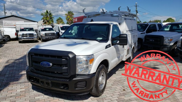 2013 FORD F350 XL, KUV SERVICE TRUCK, 6.2 V8, 34 K MILES, WITH CUMMINS ONAN COMMERCIAL QG EFI GENERATOR